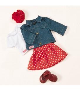 Our Generation outfit kledingset met spijkerjack