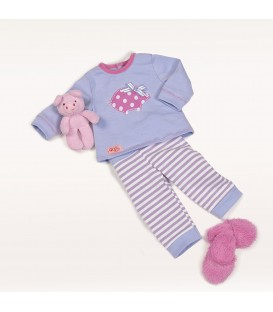 Our Generation outfit pyjama met knuffel