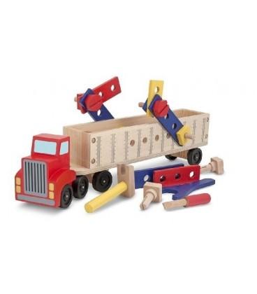 Grote truck met constructie set