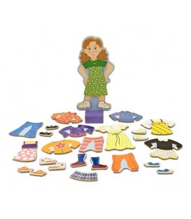 Melissa and Doug Maggie Leigh houten aankleedpop