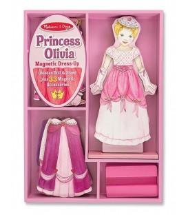 Melissa and Doug Magnetische houten aankleedpop  Prinses Olivia