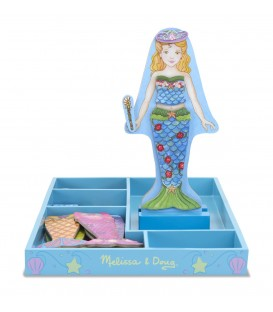 Melissa and Doug zeemeermin waverly houten aankleedpop