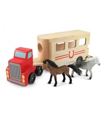 Melissa and Doug paardentransporter