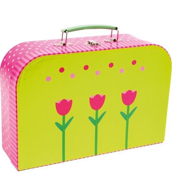Theeservies in koffer Roze/groen 3