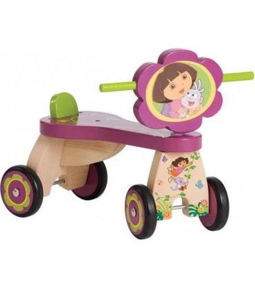 Dora houten loopfiets met vier wielen