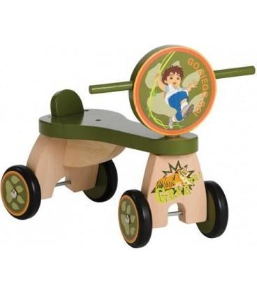 Diego houten loopfiets met vier wielen