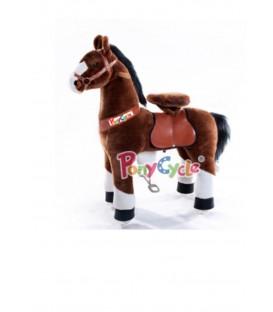 PonyCycle chcolade bruin met witte bles groot