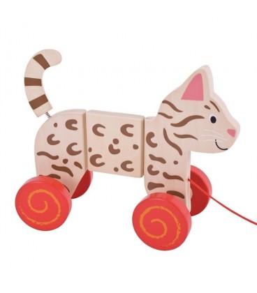 BigJigs wiebel kat met trekkoord
