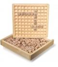 Woordenlegger | 145 houten letterblokjes | met opbergdoos