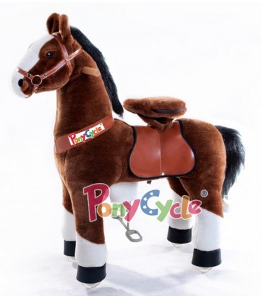 PonyCycle chcolade bruin met witte bles klein