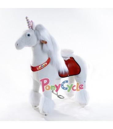PonyCycle witte eenhoorn grote uitvoering