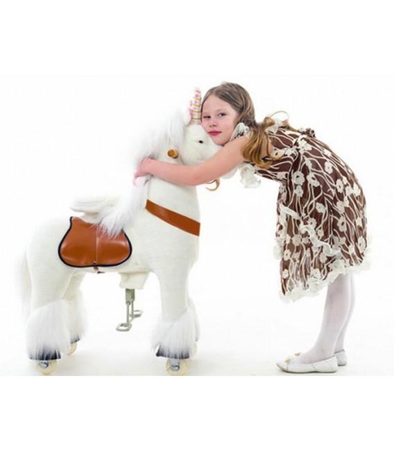 PonyCycle witte eenhoorn grote uitvoering 3