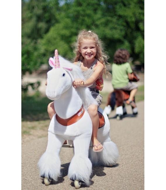 PonyCycle witte eenhoorn grote uitvoering 4