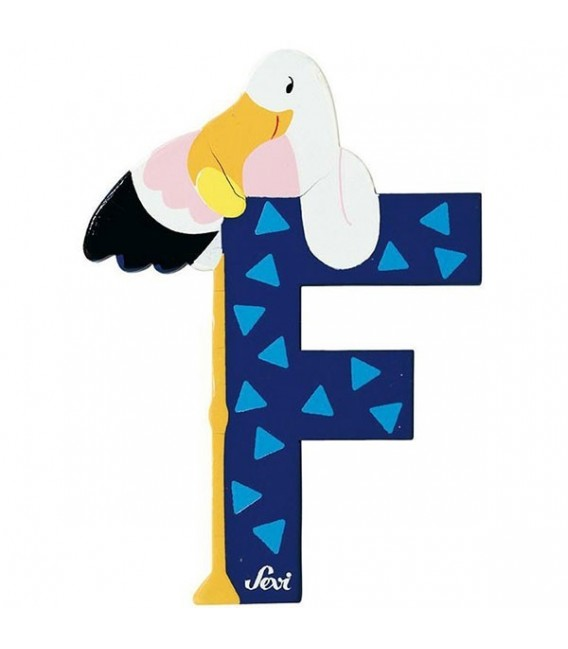 Sevi houten dieren letter F