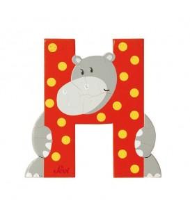 Sevi houten dieren letter H