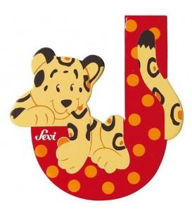 Sevi houten dieren letter J
