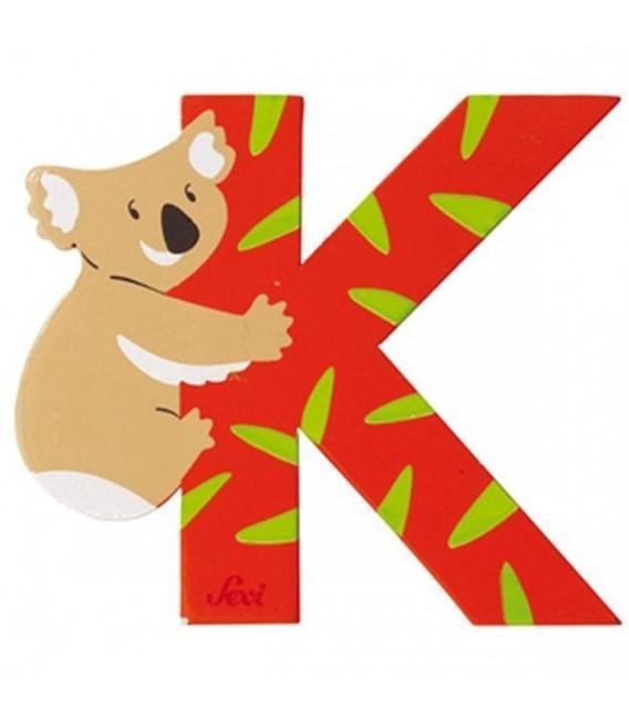 Sevi houten dieren letter K