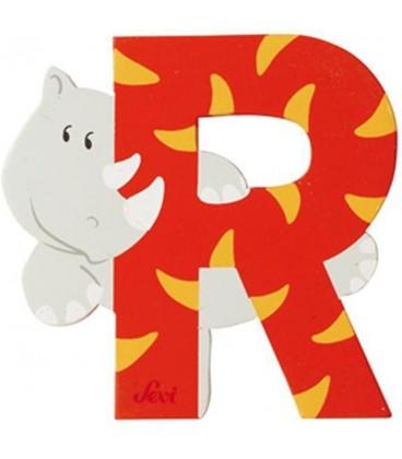 Sevi houten dieren letter R