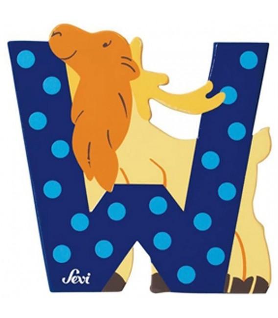 Sevi houten dieren letter W