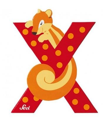 Sevi houten dieren letter X