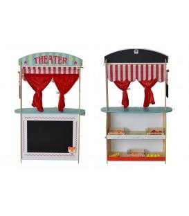 Joueco 2 in 1 Theater en winkel met accessoires