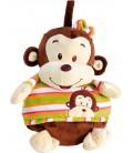 Knuffel aap en deken in 1