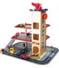 Houten parkeergarage | Helicopter platform | Tankstation