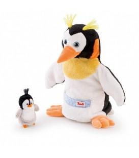 Trudi handpop Pinguïn met kuiken