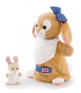 Trudi handpop konijn met baby