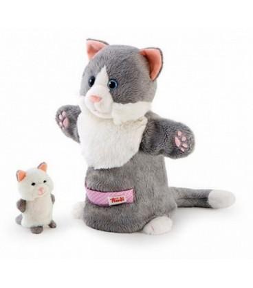 Trudi handpop poes met kitten