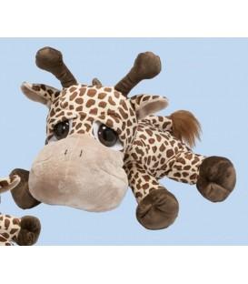 knuffeldier Giraffe | 28 cm | Liggend met grote ogen