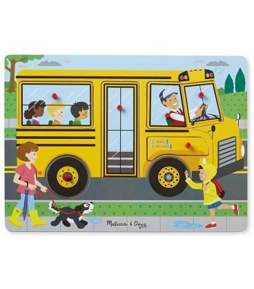 melissa and doug geluidspuzzel De wielen van de bus