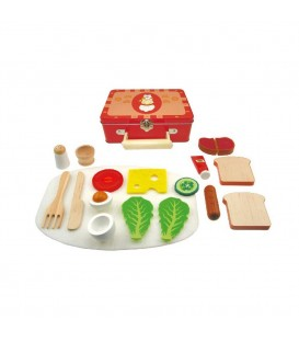 Houten Ontbijtset in Koffer