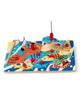 Houten puzzel vissen vangen