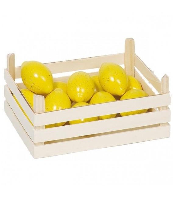 Houten kistje met citroenen