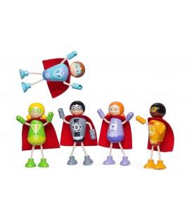 Tidlo superhelden set 5 stuks