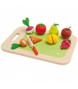 Sevi Snijplank met fruit en groente 9-delig