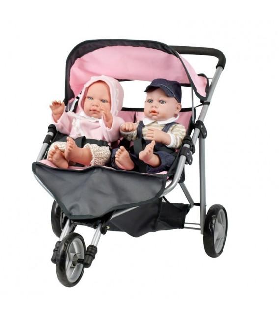 Mini Mommy Poppenwagen twin buggy