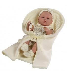 Berbesa babypop met lichte doek