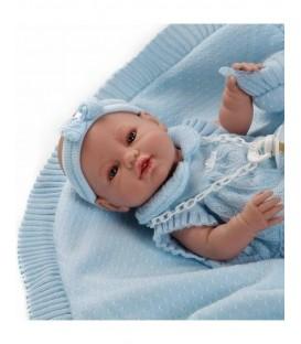 Berbesa pasgeboren pop lichtblauw