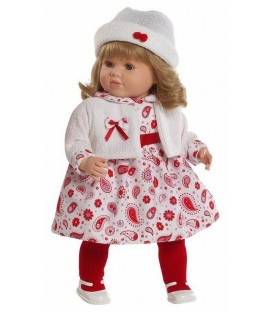 Berbesa pop Carla wit/rood 52 cm