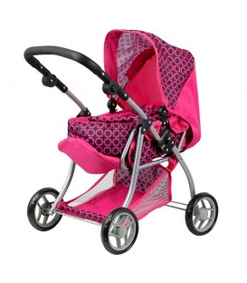 Mini Mommy Poppenwagen roze
