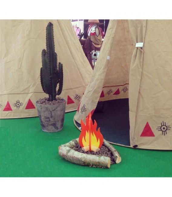 speeltent Teepee Indianen Tent foto 6