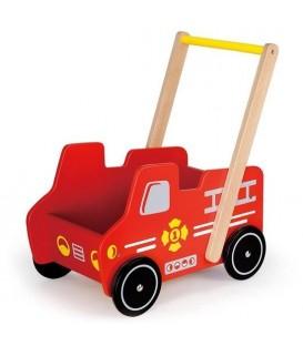 Viga Toys Duw en Loopwagen - Brandweer