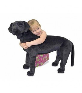 Melissa and Doug zwarte labrador knuffeldier
