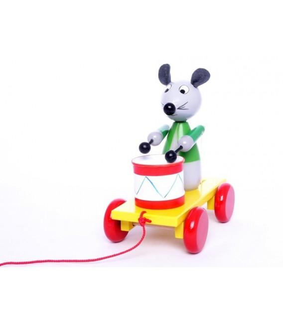 Miva trekfiguur muis met trommel