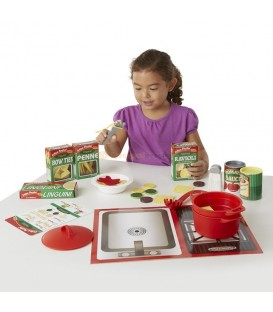 Melissa and Doug Pasta Play Set | spaghetti ravioli | speelgoed eten