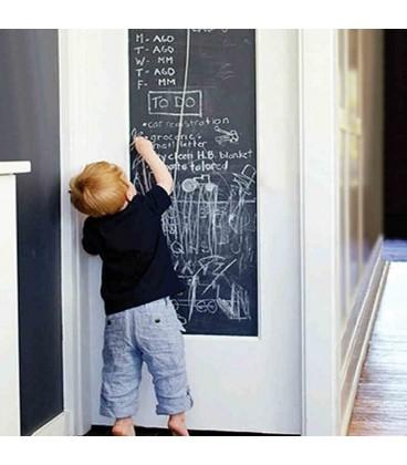 Krijtbord Sticker - Schoolbord Sticker - Kinder Krijtsticker + Kalkbord Krijtjes