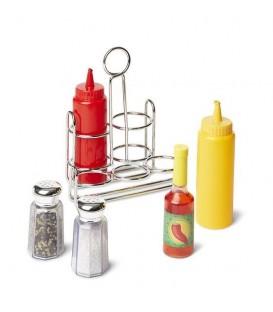 Speelgoed eten | peper, zout en sausjes set | Melissa and Doug
