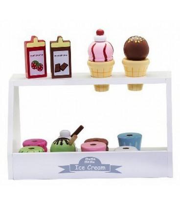 Houten ijsvitrine | ijs verkopen | Mamamemo